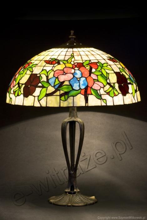 Tiffany LAMPA TIFFANY | Pansy - Bratki ⌀ 40 cm