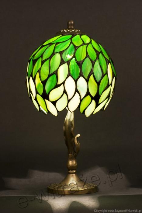 Tiffany MAŁA LAMPKA | Intensywna zieleń