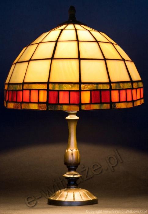 Tiffany MAŁA LAMPKA   Tiffany bursztynowy