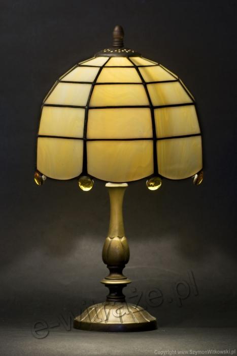 Tiffany MAŁA LAMPKA | Klasyczny beż