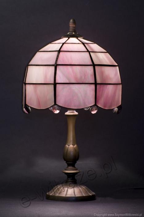 Tiffany MAŁA LAMPKA   Opalizujący róż