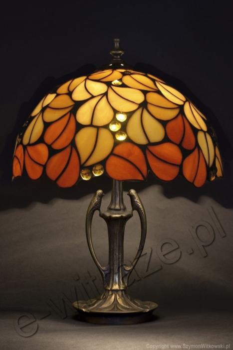 Tiffany LAMPA TIFFANY | Liście jesienne ⌀ 40 cm