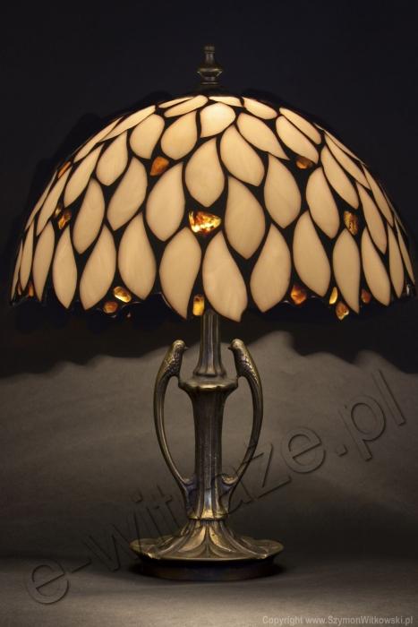 Tiffany LAMPA TIFFANY | Bursztyn ⌀ 30 cm