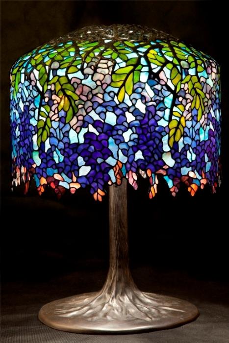Tiffany LAMPA TIFFANY |  Wisteria Fioletowa ⌀ 46 cm