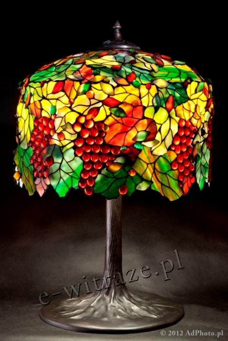 Tiffany LAMPA TIFFANY | Wino i liście ⌀ 46 cm