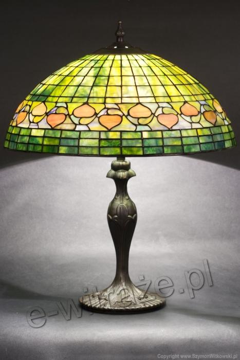 Tiffany LAMPA TIFFANY | Acorn zielony ⌀ 40 cm