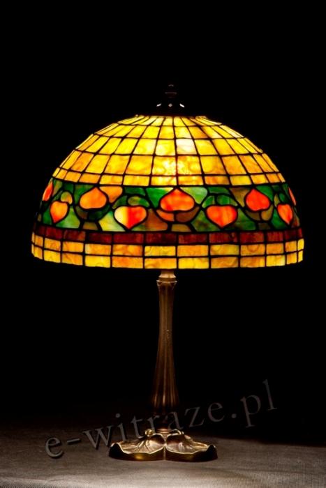 Tiffany MAŁA LAMPKA | Acorn - żółta