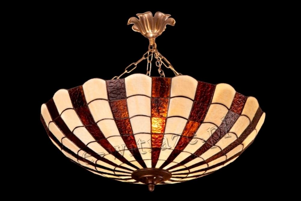 Tiffany duża lampa wisząca   Promienie