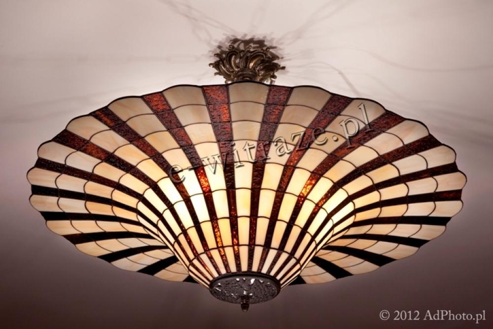 Tiffany PLAFON WITRAŻOWY   Dzwon promienie