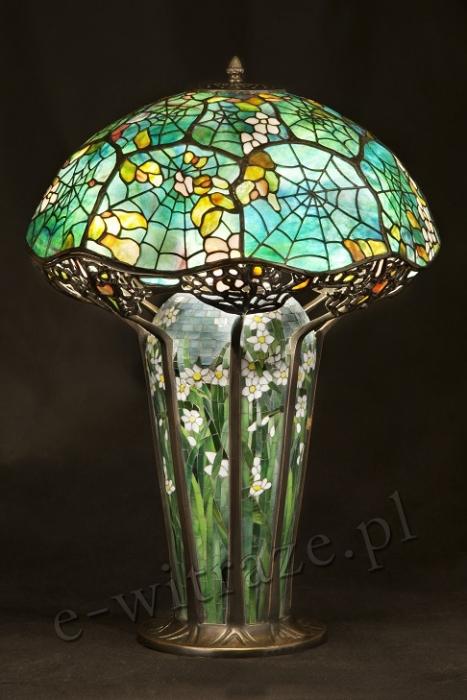 Tiffany LAMPA WITRAŻOWA TIFFANY | Pajęczyna ⌀ 44 cm