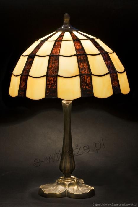 Tiffany MAŁA LAMPKA WITRAŻOWA   Promienie