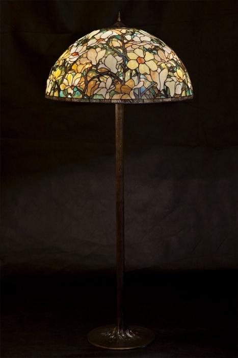 Tiffany LAMPA WITRAŻOWA STOJĄCA | Magnolia Wielka II