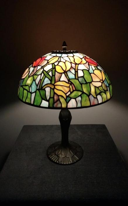 Tiffany LAMPA TIFFANY | Pastelowe Tulipany ⌀ 35 cm
