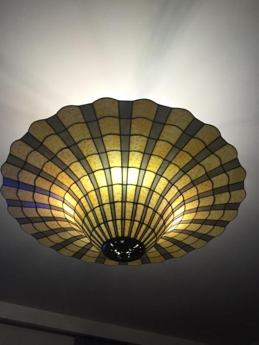 Tiffany PLAFON WITRAŻOWY | Dzwon szare promienie