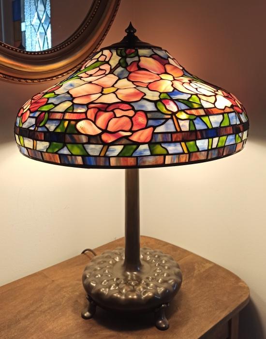Tiffany LAMPA TIFFANY | Pastelowe Piwonie ⌀ 46 cm