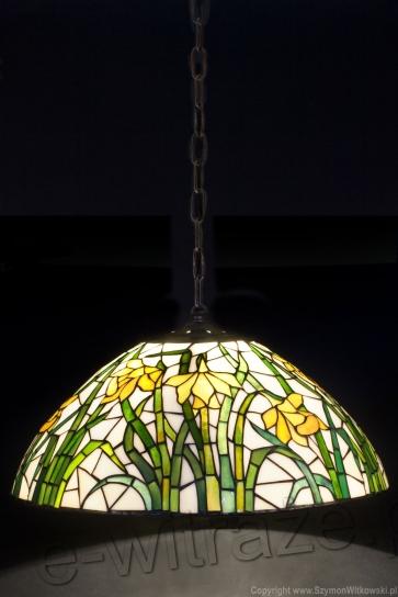 LAMPA TIFFANY | Daffodil ⌀ 40 cm witrażowa