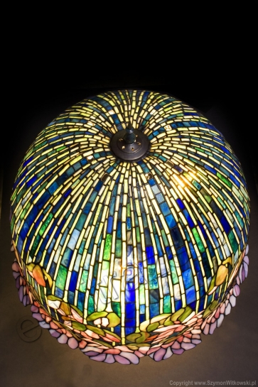 LAMPA TIFFANY | Lotus ⌀ 46 cm witrażowa