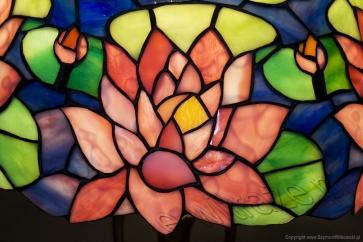 LAMPA TIFFANY | Lilia Wodna ⌀ 30 cm witrażowa
