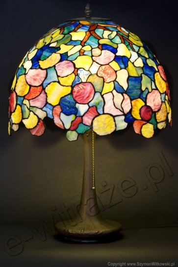 LAMPA TIFFANY | Hydrangea ⌀ 40 cm witrażowa