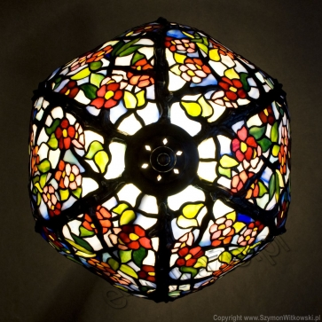 LAMPA TIFFANY   Kwiat Jabłoni ⌀ 30 cm witrażowa
