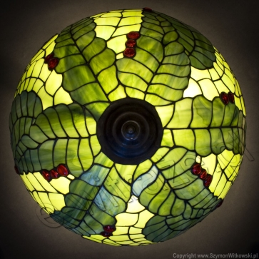 LAMPA TIFFANY | Wino ⌀ 40 cm witrażowa