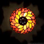 MAŁA LAMPKA | Płomienna czerwień witrażowa