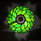MAŁA LAMPKA | Intensywna zieleń witrażowa