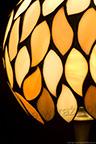 MAŁA LAMPKA | Bursztynowy beż witrażowa
