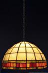 MAŁA LAMPKA   Tiffany bursztynowy witrażowa
