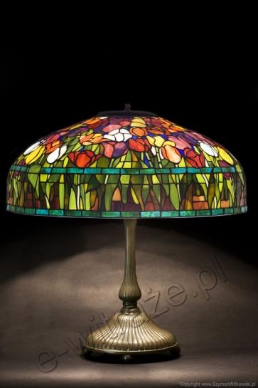 LAMPA TIFFANY | Tulipan ⌀ 56 cm witrażowa