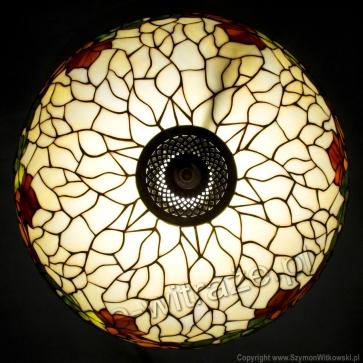LAMPA TIFFANY | Kasztany ⌀ 40 cm witrażowa