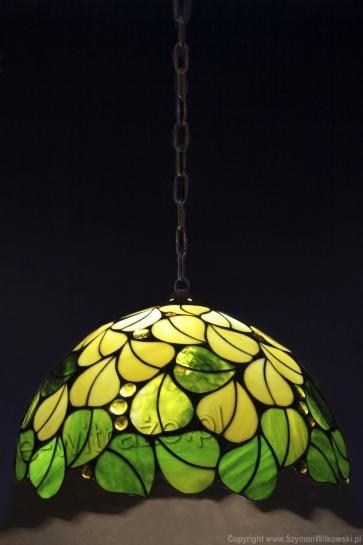 LAMPA TIFFANY | Liście wiosenne ⌀ 40 cm witrażowa