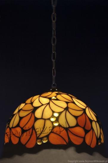 LAMPA TIFFANY | Liście jesienne ⌀ 40 cm witrażowa