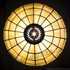 MAŁA LAMPKA | Tiffany z bursztynem witrażowa