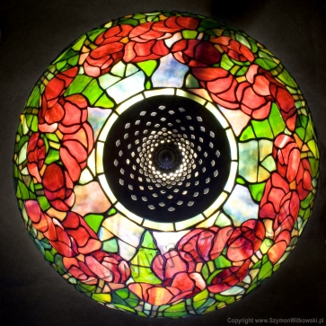 LAMPA TIFFANY | Tulipany Tiffanego ⌀ 40 cm witrażowa