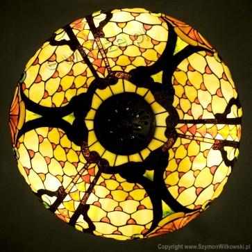 LAMPA TIFFANY | Rokoko ⌀ 60 cm witrażowa