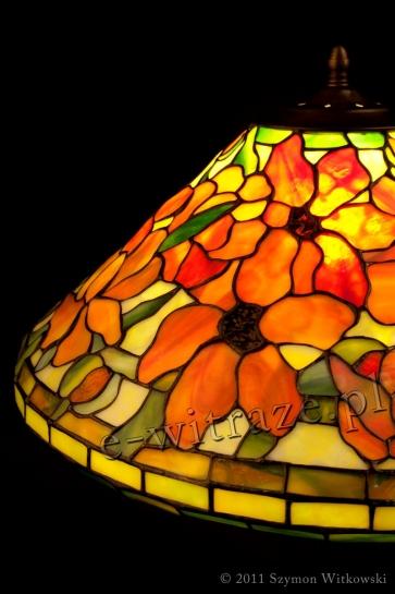 LAMPA TIFFANY | Peony - Piwonie ⌀ 40 cm witrażowa
