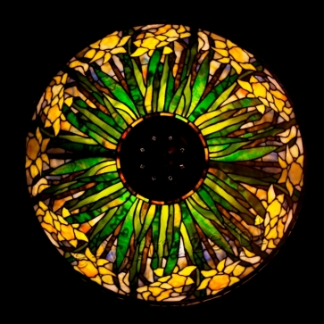 LAMPA TIFFANY | Żonkil skośny ⌀ 50 cm witrażowa