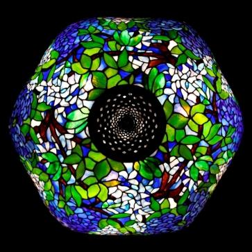 LAMPA TIFFANY | Laburnum granat ⌀ 56 cm witrażowa