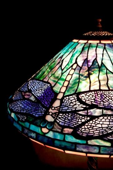 LAMPA TIFFANY | Ważka Dragonfly ⌀ 40 cm witrażowa