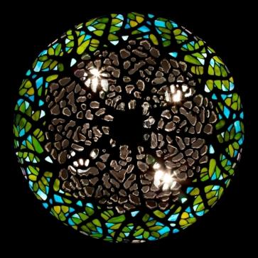 LAMPA TIFFANY |  Wisteria Fioletowa ⌀ 46 cm witrażowa