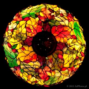 LAMPA TIFFANY | Wino i liście ⌀ 46 cm witrażowa