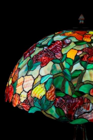 LAMPA TIFFANY   Magnolia ⌀ 50 cm witrażowa