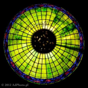 LAMPA TIFFANY | Acorn niebieski ⌀ 40 cm witrażowa