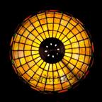 MAŁA LAMPKA | Acorn - żółta witrażowa