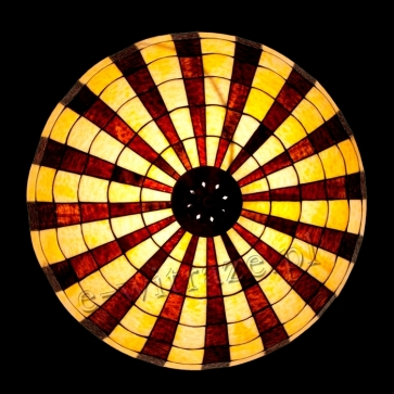 duża lampa wisząca   Promienie witrażowa