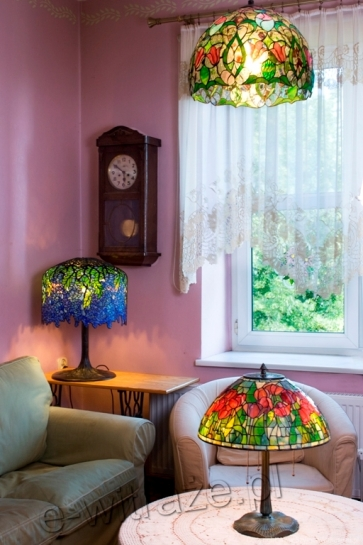 LAMPA TIFFANY | Wisteria witrażowa