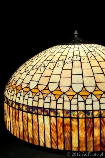 LAMPA TIFFANY | Klasyczna kopuła ⌀ 61 cm witrażowa