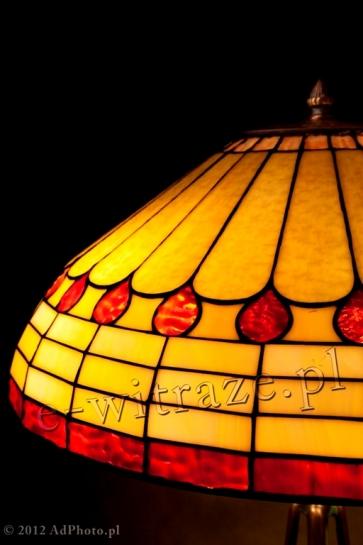LAMPA TIFFANY   Art Deco ⌀ 46 cm witrażowa