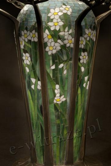 LAMPA WITRAŻOWA TIFFANY | Pajęczyna ⌀ 44 cm witrażowa